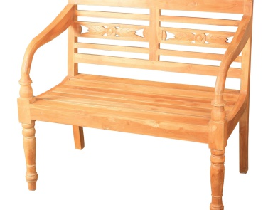 Скамья Folger Bench Natural Sterling