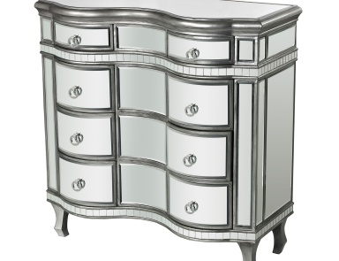 Комод Curved Mirror Chest Sterling