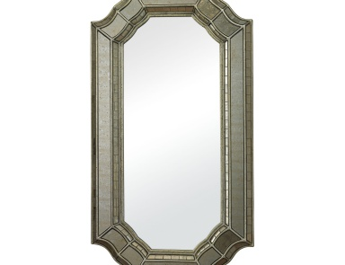 Настенное Saranap Smoked And Hand Cut Glass Mirror Sterling