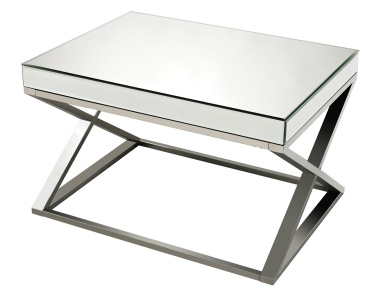 Стол Klein-Mirror And Stainless Steel Coffee Table Sterling