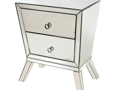 Шкаф Mirrored Side Cabinet With 2 Drawers Sterling