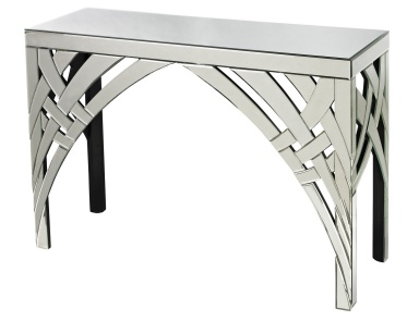 Стол Curved Ribbons Mirrored Console Sterling
