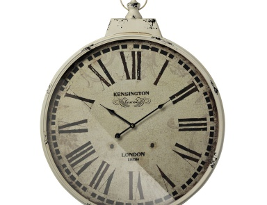 Часы настенные Kensington Station Clock With Antique Cream Metal Frame Sterling