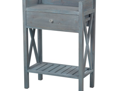 Стол Biscayne Beachcomber Blue Side Table By Sterling