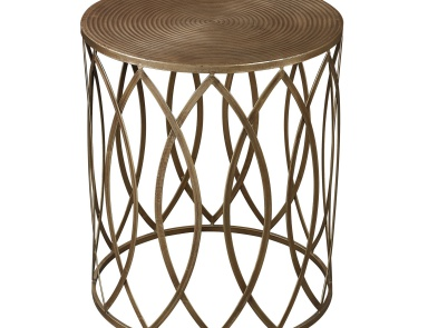 Стол Sutton-Accent Table In Gold Leaf Sterling