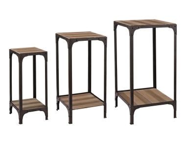 Стол Set Of Plant Stands With Bottom Shelf Sterling