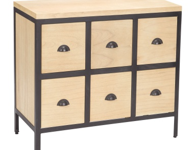 Комод Chest 6 Drawers With Iron Frames Sterling