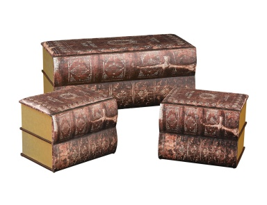 Сундук Set of 3 Antique Book Trunks Sterling