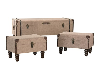 Сундук Linen Covered Travelers Trunks Sterling