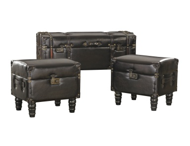 Сундук Set of 3 Travelers Storage Trunks Sterling