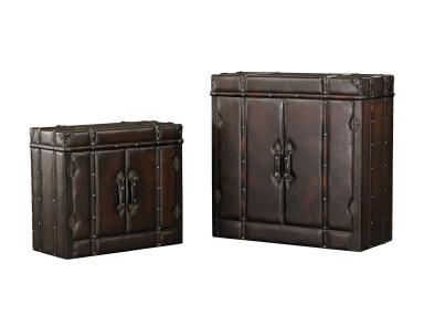 Сундук Set of 2 Travelers Cabinets Sterling