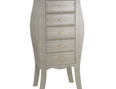 Комод Bowed Shagreen Chest in Grey Sterling
