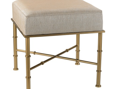 Скамья Gold Cane Bench in Cream Metallic Sterling