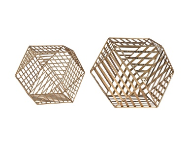 Аксессуар Gold Metallic Wire Dodecahedron Sterling