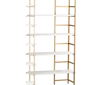 Стеллаж White and Gold Shelving Unit Extension Sterling