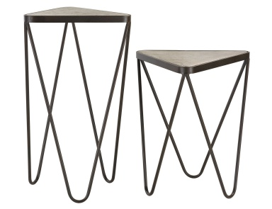 Стол Set of 2 Angular Side Tables Sterling