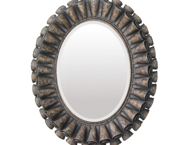 Настенное Ruffled Oval Mirror Sterling