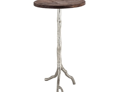 Стол Wood and Nickle Side Table Sterling