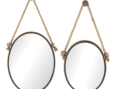 Настенное Oval Mirrors On Rope - Set of 2 Mirror Masters