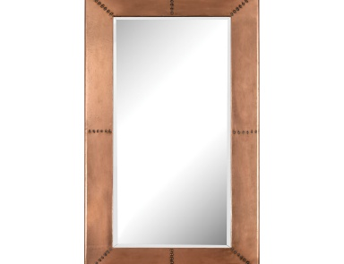 Настенное Copper Frame Mirror With Nail Head Mirror Masters