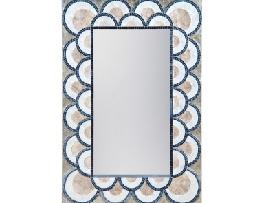 Настенное Art Deco Capiz Shell And Glass Mosaic Mirror Mirror Masters